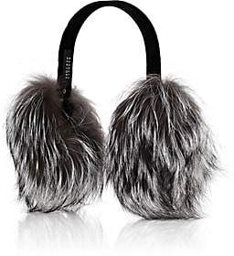 Barneys New York Women's Fox-Fur Earmuffs-Gray