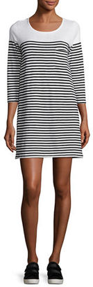 Soft Joie Alyce Striped 3/4-Sleeve T-Shirt Dress $188 thestylecure.com