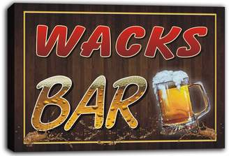 AdvPro Canvas scw3-079380 WACKS Name Home Bar Pub Beer Mugs Cheers Stretched Canvas Print Sign