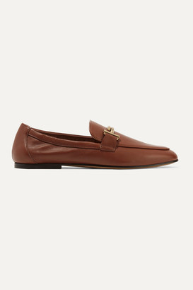 Tod's Embellished Leather Loafers - Brown