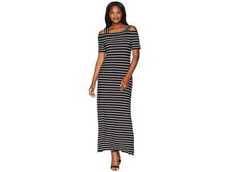 Nine West Off the Shoulder Wrap Dress w/ Straps Women's Dress