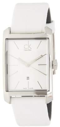Calvin Klein Women's Window Leather Strap Watch, 30mm