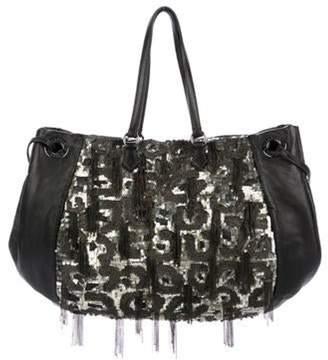 Valentino Sequin Glam Bag Pewter Sequin Glam Bag