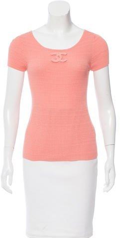 Chanel Knit Logo Top