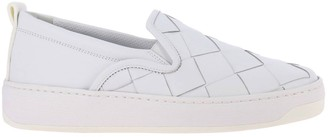Bottega Veneta Sneakers Slip On Sneakers In Real Smooth Leather With Maxi Woven Processing