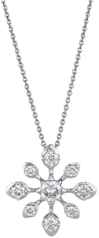 White Gold and Diamond Star Pendant Necklace