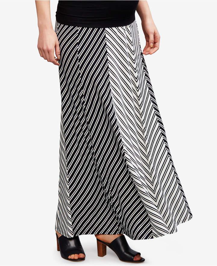 A Pea In The PodA Pea In The Pod Maternity Striped Maxi Skirt