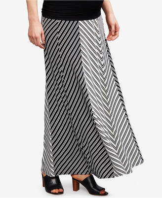 A Pea in the Pod Maternity Striped Maxi Skirt