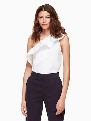 Kate Spade Poplin one shoulder top