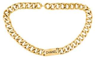 Chanel Chain-Link Logo Belt