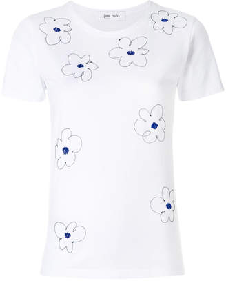 Jimi Roos Flowers embroidered T-shirt