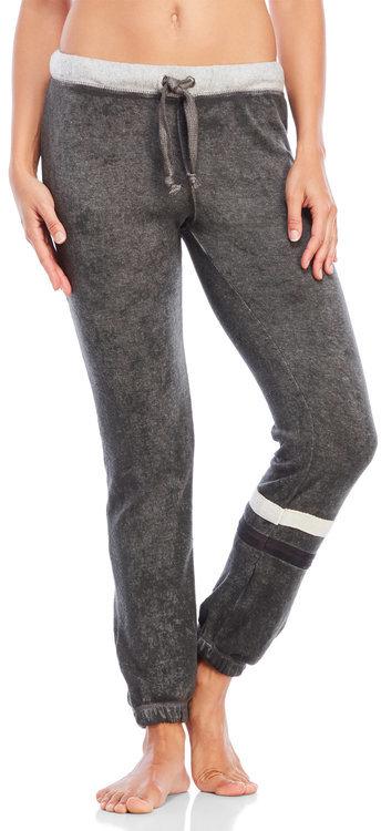 ocean drive Fleece Drawstring Stripe Sweatpants
