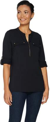 Belle By Kim Gravel Belle by Kim Gravel TripleLuxe Long Sleeve Utility Shirt