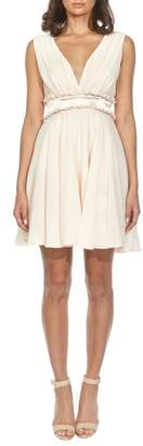 TFNC Joany Ruffle Waist Fit & Flare Dress