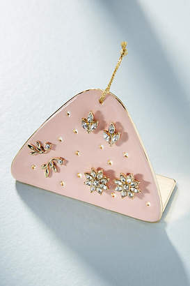 Anthropologie Good Tidings Post Earring Set + Stand