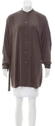 Helmut Lang Silk Button-Up Top
