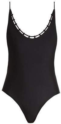 JADE SWIM Chain Reaction Swimsuit - Womens - Black