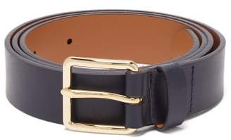 MAISON KITSUNÉ Classic Leather Belt - Mens - Navy