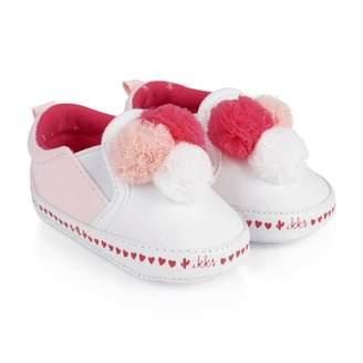 Ikks IKKSBaby Girls Pink Pom Pom Pre Walkers