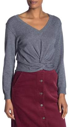 Fate V-Neck Front Ruched Pullover