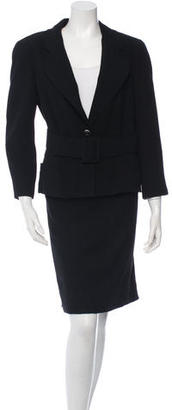Chanel Belted Wool Skirt Suit $1,095 thestylecure.com