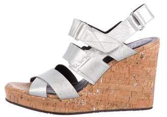Donald J Pliner Leather Wedge Sandals