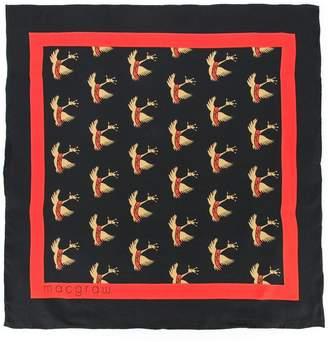 Macgraw swan print necktie