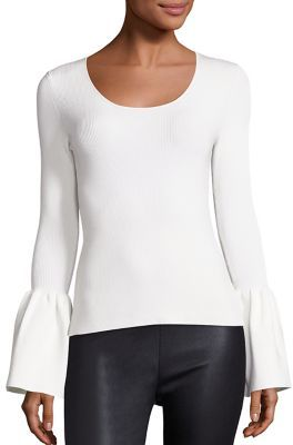 Elizabeth and James Willow Bell Sleeve Ribbed Top $325 thestylecure.com
