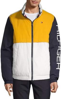 Tommy Hilfiger Colorblock Logo Nylon Windbreaker