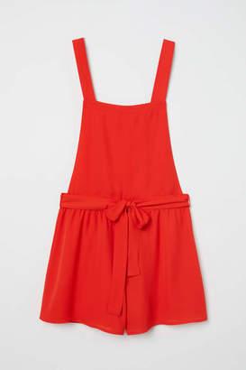 H&M Bib Overall Shorts - Bright red - Women