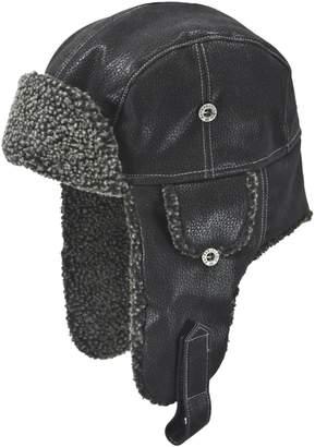 Nathaniel Cole Faux Fur-Trim Aviator Hat