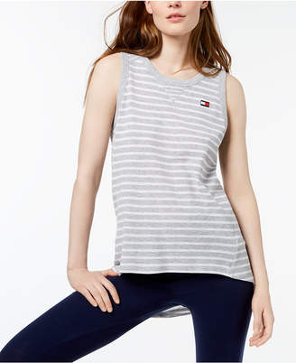Tommy Hilfiger Striped High-Low Tank Top, Created for Macy's