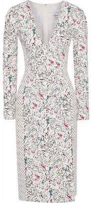 J. Mendel J.mendel Camellia Printed Silk-Blend Crepe Dress
