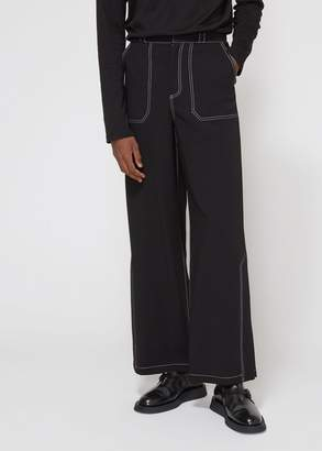 Deveaux Double-Faced Wool Side Slit Pant