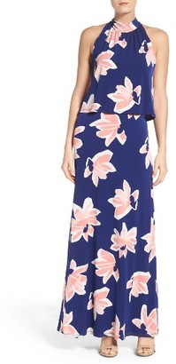 Women's Leota 'Syler' Popover Jersey Maxi Dress $148 thestylecure.com