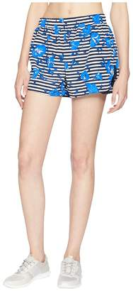Kate Spade Athleisure Hibiscus Stripe Shorts Women's Shorts