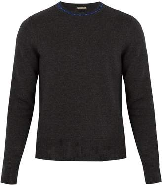 Bottega Veneta Contrasting-collar wool and cashmere-blend sweater