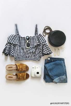 Forever 21 Contemporary Gingham Crop Top
