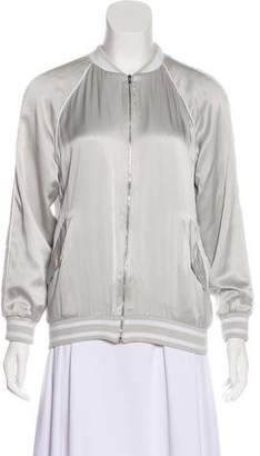 Equipment Long Sleeve Silk Jacket