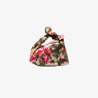 Simone Rocha Green and pink wrap baby floral bag