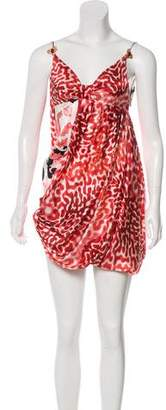Just Cavalli Embellished Silk Dress