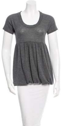 Miu Miu Wool Short Sleeve Top
