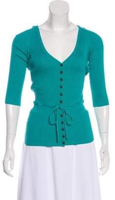 Diane von Furstenberg Silk Knit Cardigan
