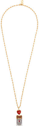 Dolce & Gabbana Sacred Heart playing card necklace