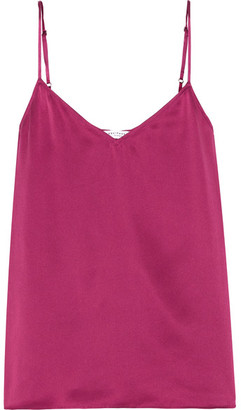 Equipment - Layla Washed-silk Camisole - Plum $140 thestylecure.com