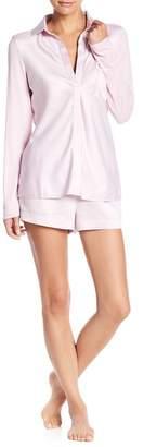 Elie Tahari Satin Nightshirt & Shorts Pajama 2-Piece Set
