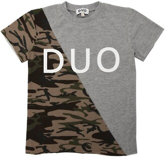 Duo Camo Printed Cotton Jersey T-Shirt