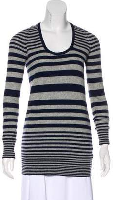 Theory Striped Cashmere Sweater