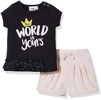 Silly Apples (025) Baby Girl 2-Piece Short-Sleeve T-Shirt and Short Outfit Set (3M)