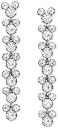 Disney Cubic Zirconia Mickey Mouse Drop Earrings in Sterling Silver